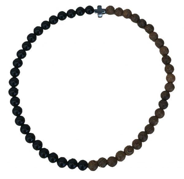 50 Bead Black & Brown Prayer Bracelet