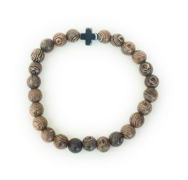 25 Bead Brown Prayer Bracelet